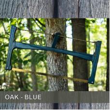 21in Oak - Blue Satin