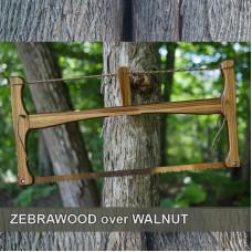 24in Zebra Wood over Walnut